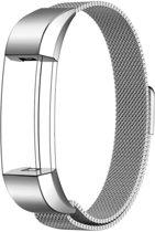 Milanees Bandje Zilver geschikt voor FitBit Alta HR - Milanese RVS Armband Silver - Small