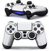 PS4 dualshock Controller PlayStation sticker skin | Wit karbon