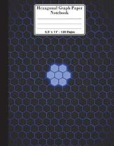 Hexagonal Graph Paper Notebook. 8.5 X 11. 120 Pages