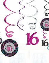 Hangdecoratie swirl decoration sweet 16