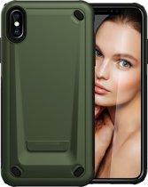 Mobigear PU Leger Groen iPhone Xs Max