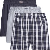 Calvin Klein - Heren 3-Pack Wijde Boxershorts Blauw Wit - XL