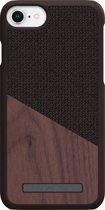 Nordic Elements Frejr backcover voor Apple iPhone 6/7/8 -  Walnoot hout / bruin textiel
