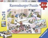 Ravensburger Rond het vliegtuig - Puzzel