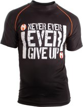 Nihon Thermoshirt Rashguard Never Give Up Heren Maat Xxl Zwart