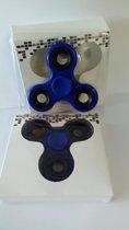 Fidget spinner | hand draaier | hand spinner Spinner blauw met zwart