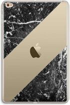 iPad Mini 4 Transparant Hoesje (Soft) - Zwart marmer