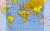 Bureau-onderlegger Kangaro 579x379mm met wereldkaart