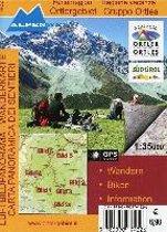 Ferienregion Ortlergebiet / Regione Vacanze Gruppo Ortles 1 : 35 000 Luftbildpanorama & Wanderkarte
