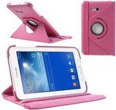 Samsung Galaxy Tab 3 Lite 7.0 Draaibaar Stand Case Roze