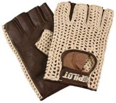 Autohandschoenen zonder vingers  XL - racehandschoenen bruin