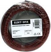 25 meter Elektrofix luidsprekersnoer rood/zwart, 2 x 0.75mm