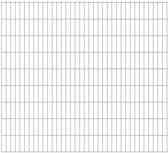 vidaXL Dubbelstaafmatten 2008 x 1830mm 14m Zilver 7 stuks