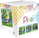 Pixelhobby classic - kubus tropische vogels