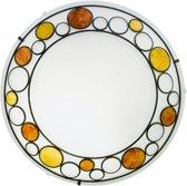 EGLO Toleda Wand/Plafondlamp - 2 Lichts - Wit, Bruin, Oranje
