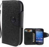 Samsung Galaxy Trend LiteS7390 MLT Wallet Stand Case Hoesje Zwart