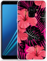 Samsung Galaxy A8 Plus 2018 Hoesje Tropical Flowers