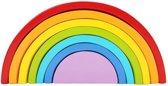 Houten regenboog | klein | 7-delig | Montessori speelgoed | Houten speelgoed |Kidzstore.eu
