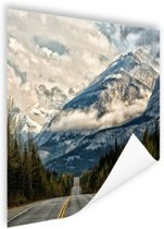 Canadees berglandschap Poster 180x120 cm - Foto print op Poster (wanddecoratie woonkamer / slaapkamer) XXL / Groot formaat!