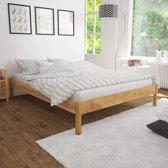 vidaXL Bedframe massief eikenhout 180x200 cm naturel
