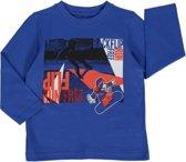 Losan Jongens Shirt Blauw met print - I34 - Maat 92