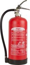 Dräger composiet brandblusser, 6 liter schuim, 10 jr geen onderhoudskosten incl. ophanghaak.