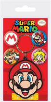 Super Mario Rubber Sleutelhanger / Keychain & Button / Badge Set Mario