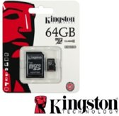 Het Origineel Kingston 64GB Micro SDHC Class 10 UHS-I 45R FlashCard + Adapter