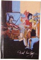 BiggDesign Notebookdeur Bülent Yavuz Yılmaz | Model 1 | Pocket Agenda | Speciaal kunstenaarontwerp | Undyed Sheet Striped | 9 x 14 cm | Harde kaft | Ivoorpapier | Bladwijzer | 96 vellen | Relatiegeschenk | School cadeau