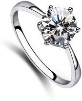 Fate Jewellery Ring FJ104 - 18mm - Zilverkleurig met zirkonia kristal
