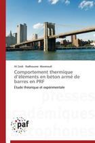 Comportement Thermique D Elements En Beton Arme de Barres En Prf