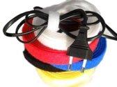 Klittenband Kabelbinder 16mm Back-to-Back 3 mtr Kleurenmix 5 rollen