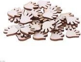 decoratie figuurtjes Handjes - hout - 10 stuks