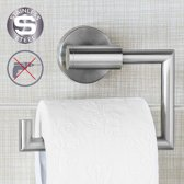 Luxe Hangende RVS Toiletpapier Houder Zonder Klep - WC Rolhouder Hangend Verchroomd - Closetrolhouder - Zonder Boren