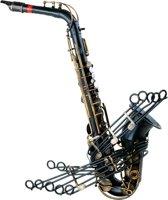 Vintage saxofoon thema muziek decoratie