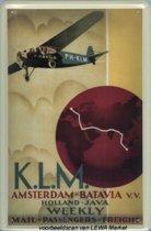KLM reclame Amsterdam - Batavia reclamebord 20x30 cm