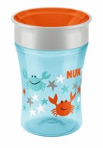 NUK Magic Cup 230ml | Drinkbeker | Gemakkelijk leren drinken vanaf 8 maanden | Vaatwasserbestendig | Oranje / Blauw