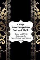College Ruled Composition Notebook Black