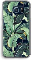 Samsung Galaxy S6 Edge Transparant Hoesje (Soft) - Bananenbladeren