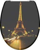 SCHÜTTE WC-Bril 82369 PARIS NIGHT - Duroplast - Soft Close - Afklikbaar - RVS-Scharnieren - Decor - 3-zijdige Print