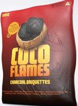 Coco Flames Barbecue Cocos Houtskool Briketten 2x 10 kg