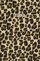 Tiara: Personalized Notebook - Leopard Print Notebook (Animal Pattern). Blank College Ruled (Lined) Journal for Notes, Journa