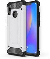 Let op type!! Diamond Armor PC + TPU warmtedissipatie beschermende case voor Huawei Nova 3i (wit)