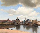 Johannes Vermeer gezicht op Delft