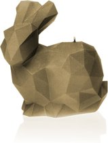 Candellana figuurkaars Konijn XL goudbruin gelakt. Hoogte 16 cm (70 uur)