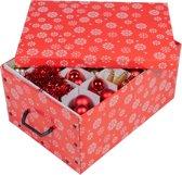 MaxxHome Kerstmis decoratie opbergbox - kerstballen box - 38 compartimenten