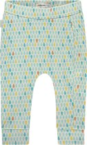 Noppies Unisex Slimfit broek met all over print Prescott - Pastel Turqouise - Maat 56
