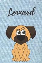 Lennard Hunde-Notizbuch / Malbuch / Tagebuch: Individuelles personalisiertes blanko Jungen & M�nner Namen Notizbuch, blanko DIN A5 Seiten. Ideal als U