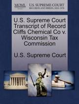 U.S. Supreme Court Transcript of Record Cliffs Chemical Co V. Wisconsin Tax Commission