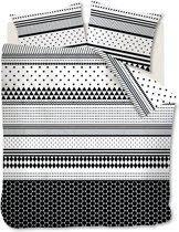 Ambiante Tommie - Dekbedovertrek - Tweepersoons - 200x200/220 cm - Zwart